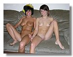 Two Amateur Teen Girls Modeling Nude
