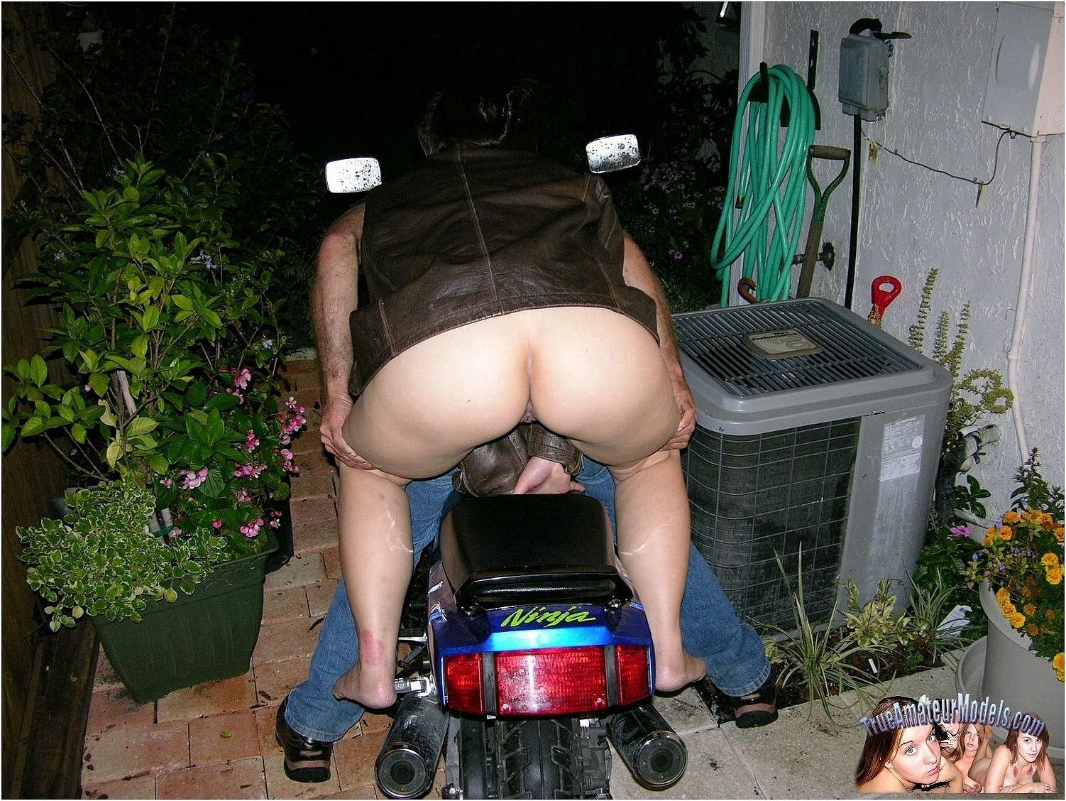 Teen Biker Babe Spreads Nude On Bike-2788