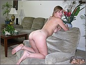 nude on chair