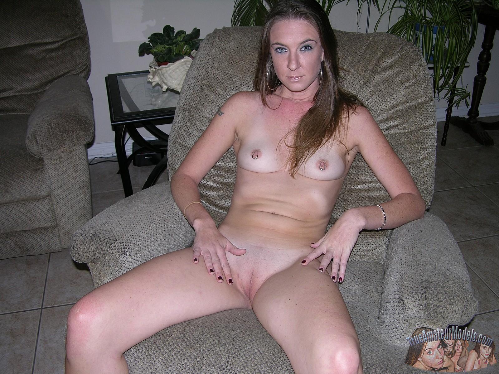 Nude girl on rod