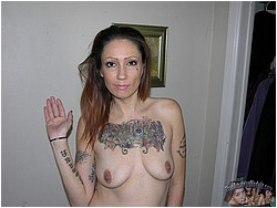 Nude Tattooed Biker Babe - Sin Model