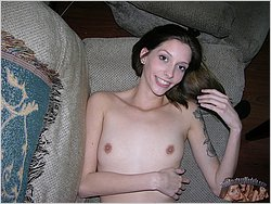 Skinny Nude Tattoed Model - Vicki From Trueamateurmodels.com